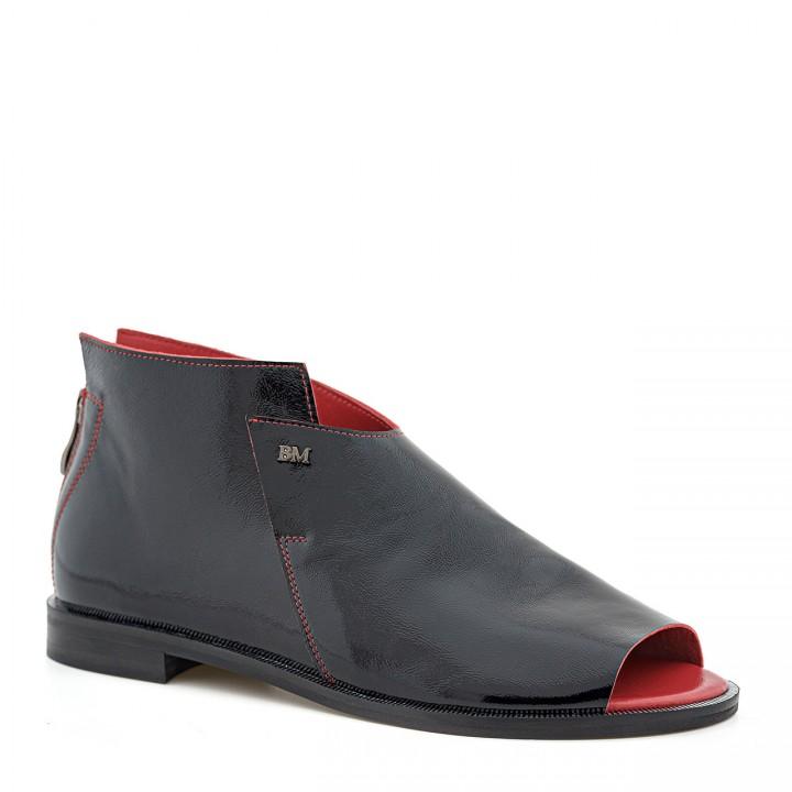Stylowe czarne sandałki bez palców