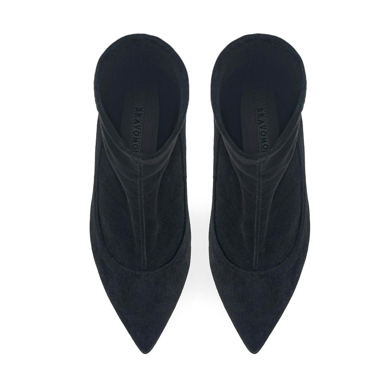 Czarne botki z elastyczną cholewką