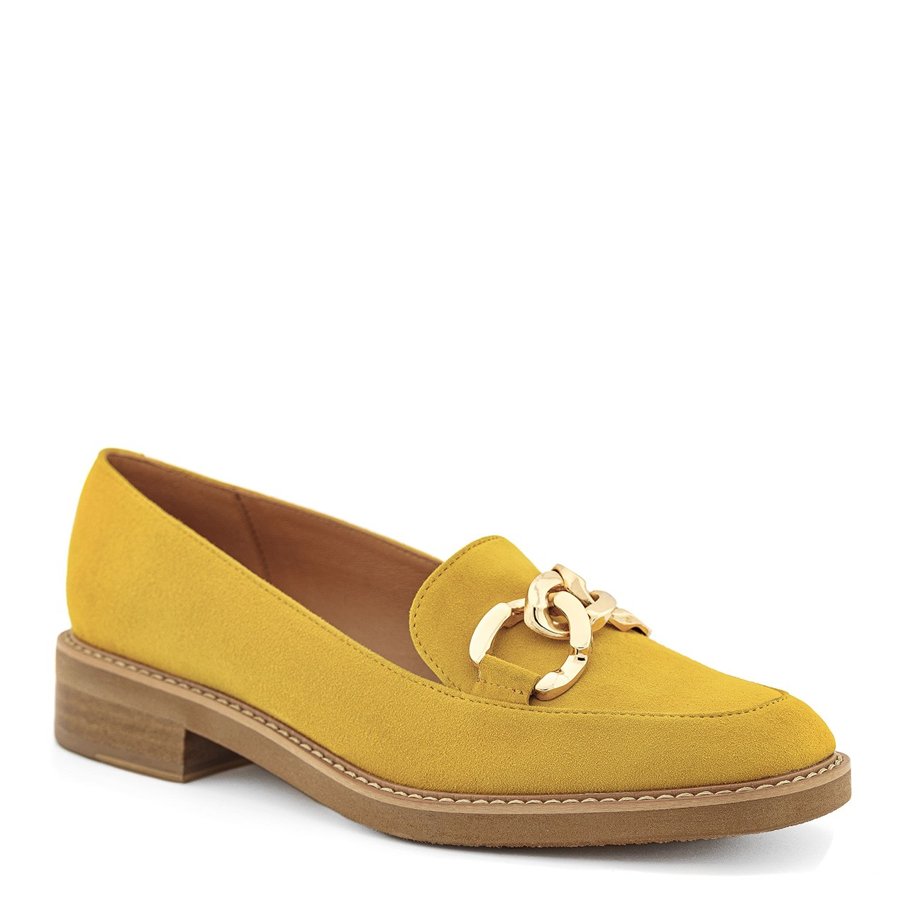 Damskie mokasyny w wyjątkowym żółtym kolorze